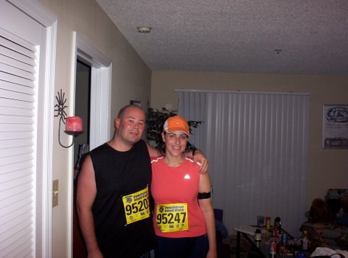 Jason and I before the Peachtree
