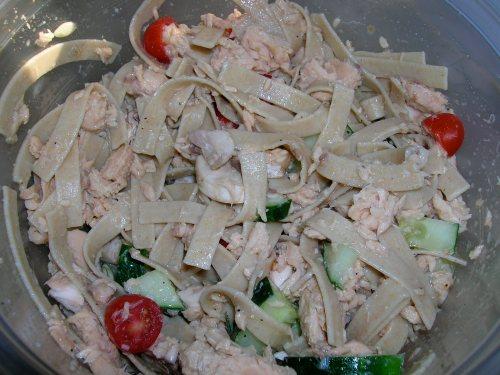 Salmon Caesar Pasta Salad