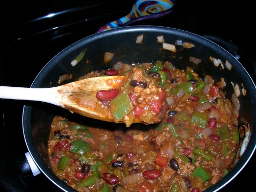 Veggie Chili in the Pot